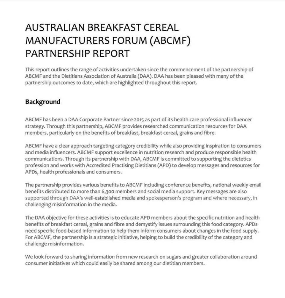 Abcmf Partnership Report
